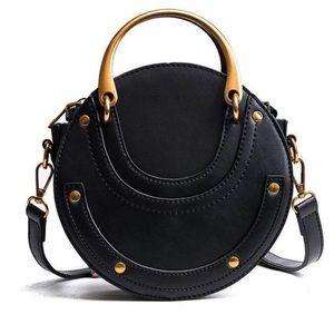 Round Crossbody Bag in Black NWT